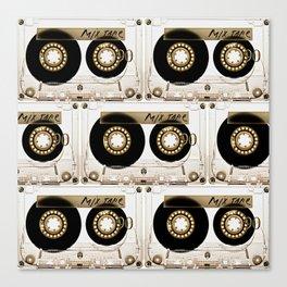 Transparant mix tape Retro Cassette Canvas Print
