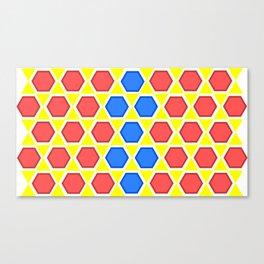 colourful hexagons Canvas Print