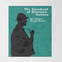 Casebook of Sherlock Holmes Book Cover Throw Blanket