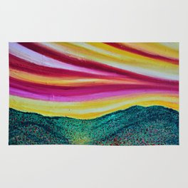 SPRING IS COMING - Abstract Sky - Landscape Oil Painting Rug