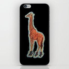 Giraffe On Roller Skates iPhone Skin