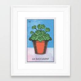 La Succulent Framed Art Print