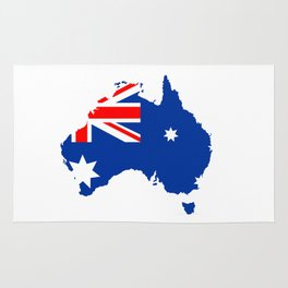 australia flag map Rug