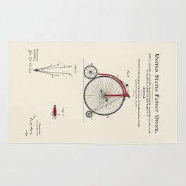 High Wheel Bicycle Patent Rug