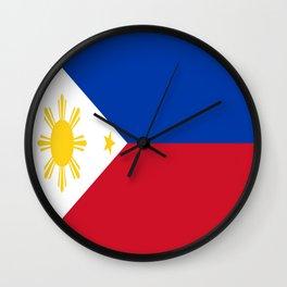 Flag of Philippines -Pilipinas,Filipinas,filipino,pinoy,pinay,Manila,Quezon Wall Clock