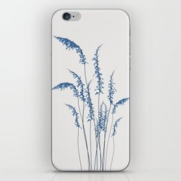 Blue flowers 2 iPhone Skin