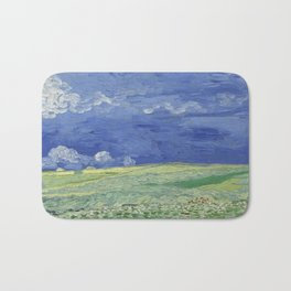 Wheatfield under Thunderclouds Bath Mat