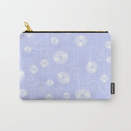 White Spirals Carry-All Pouch