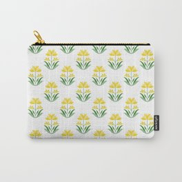 Mughal Florals Print Pattern Carry-All Pouch