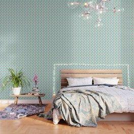 Pink Ice Cream on Blue Wallpaper