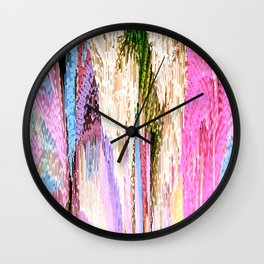 Pink Abstract Enlightenment Wall Clock
