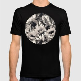 Sunflowers in Soft Sepia T-shirt