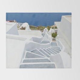 The Perfect Santorini Life Throw Blanket
