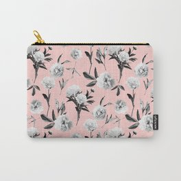 Peonies Mono Blush Carry-All Pouch