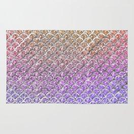 Pastel Glitter Mermaid Scallops Pattern Rug