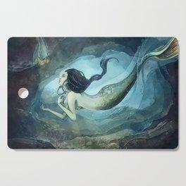 mermaid treasure Cutting Board