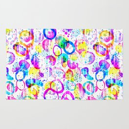 Sweet As Candy - colorful watercolor pattern by Lo Lah Studio Rug