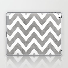 gray chevron Laptop & iPad Skin