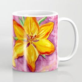 Orange Lily - Flower Watercolor Painting Coffee Mug
