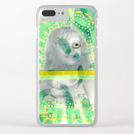 Incognito Girl Clear iPhone Case