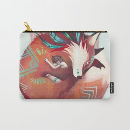 Wild - fox and girl sleeping together Carry-All Pouch