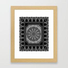 Indian Elephants Yin Yang Mandala Framed Art Print