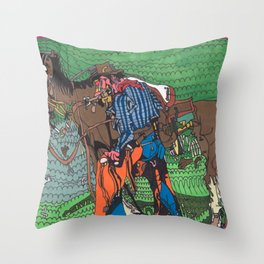 One of a Kind Cowboy Throw Pillow