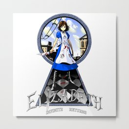 [Shirt Parody] Elizabeth - Infinite Return Metal Print