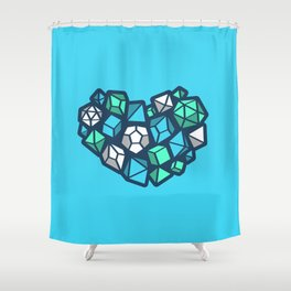 Heart Of A Dungeon Master Shower Curtain