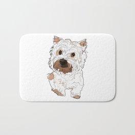 Lolo, West Highland Terrier Bath Mat