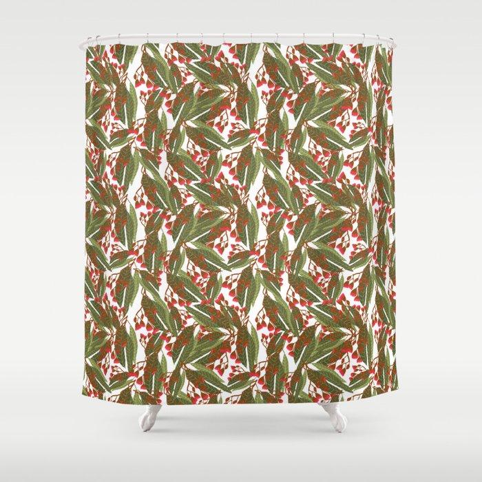 Flowering Gum - White Shower Curtain by leannesimpsonart   Society6