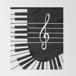 Piano Keys I Throw Blanket