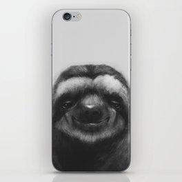 Sloth #1 (B&W) iPhone Skin