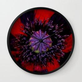Poppy Heart 3 Wall Clock