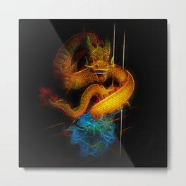 Dragon Fractal Dragon Metal Print