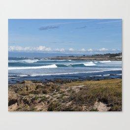 Pebble Beach Landscape Canvas Print
