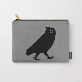 Walking Owl Silhouette Carry-All Pouch