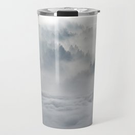 Wolves Among the Snowcapped Mountain Travel Mug