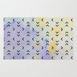 Watercolor Arrow Pattern Rug