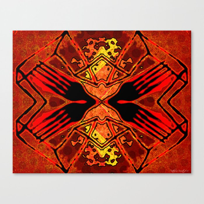 Red Eye Fork Canvas Print