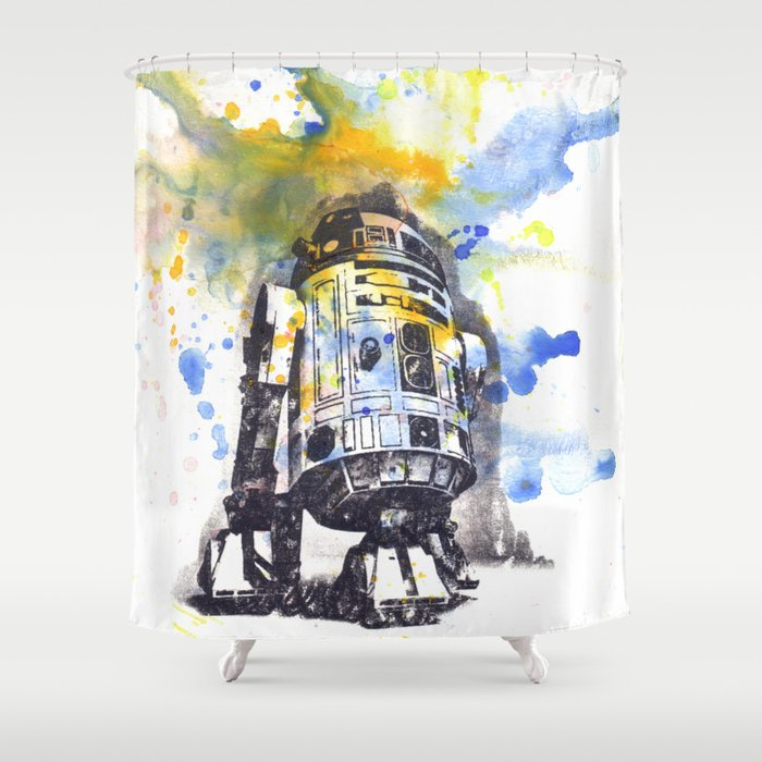 R2D2 From Star Wars Shower Curtain