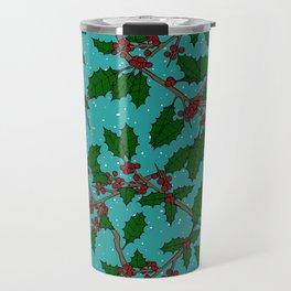 Boughs of Holly Travel Mug