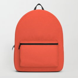 Tomato - solid color Backpack