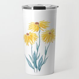 three yellow flowers Travel Mug