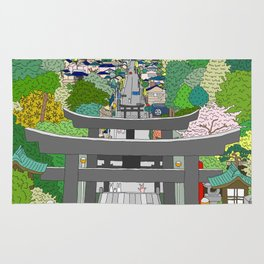 Passage to Light - Miyajidake Shrine Rug