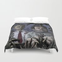 shaun of the dead Duvet Covers featuring Shaun of the Dead Caricature by Richtoon