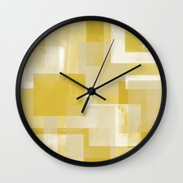 Modern Abstract No. 19 | Citron Wall Clock