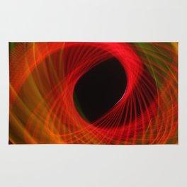 Orange Huricane Fiber Optic Light Painting Rug