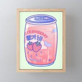 Strawberry Rain Framed Mini Art Print
