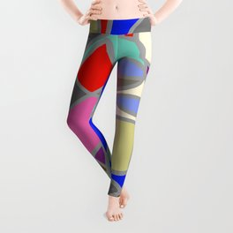 Stain Glass Abstract Meditation Painting 1 Leggings